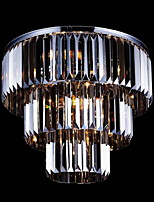 Max60W Flush Mount ,  Modern/Contemporary Electroplated Feature for Crystal Metal Living Room / Bedroom / Dining Room