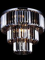 Max60W Contemprâneo Cristal Galvanizar Metal Montagem do Fluxo Sala de Estar / Quarto / Sala de Jantar