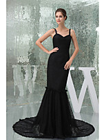 Formal Evening Dress Trumpet/Mermaid Straps Court Train Lace
