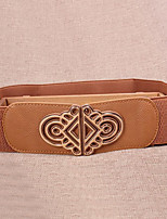 Women Leather National Wind Wide Belt,Vintage / Cute / Party / Casual Alloy