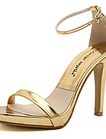 Women's Shoes Leatherette Summer Heels Party & Evening Stiletto Heel Buckle Silver / Gold