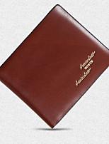 Bolso de Mano / Cartera / Portatarjetas / Monedero / Titular de la tarjeta de visita-Triple Pliegue-PU / Piel de Vaca-Marrón-Hombre