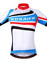 Wosawe Cycling Tops / Jerseys Unisex Moisture Permeability / Quick Dry / Limits Bacteria / Sweat-wicking / Reflective Strips / Back Pocket