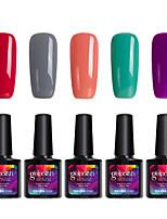 Modelones 5Pcs Gelpolish UV Gel Nail Polish Soak Off Gel Manicure Tool Varnish Beauty Makeup C107