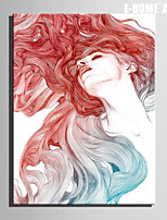 E-HOME® Stretched Canvas Art The Red Haired Woman Decoration Painting  One Pcs