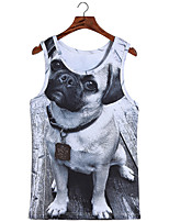 3D Pattern Male As Picture Cosplay Tsundere dog Vest