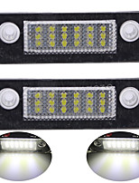 2PCS For-d Mondeo LED License Plate Lamp 14W 3528SMD LED with Special LED Decorder