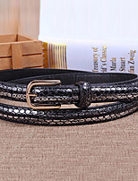 Women Leather Snakeskin Grain Skinny Belt,Vintage / Cute / Party / Casual Alloy