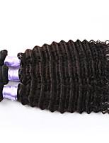 3pcs / lot rizado brasileño profundo de la onda profunda brasileña virginal del pelo del pelo virginal del pelo humano sin procesar