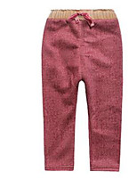 Girl's Red Pants Cotton Spring