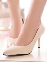 Zapatos de mujer-Tacón Stiletto-Tacones-Tacones-Oficina y Trabajo / Vestido-Semicuero-Negro / Beige