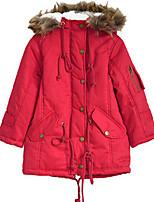 Girl's Green / Red Jacket & Coat,Dresswear Cotton Winter