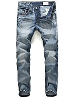 Mens Printed Jeans Sweatpants,Casual / Sport Solid Cotton