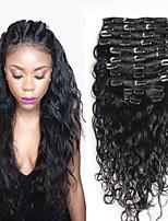 8a 100% clip di naturale Remy nelle estensioni dei capelli umani clip di capelli vergini brasiliani in onda estensione