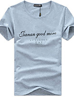 Men's Letter Casual T-Shirt,Modal Short Sleeve-Black / White / Gray