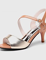 Women's Shoes Synthetic Stiletto Heel Peep Toe Sandals Wedding/Office & Career/Party & Evening/Dress/Casual Black/Gold