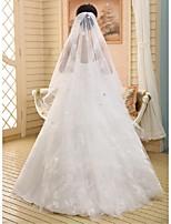 Wedding Veil One-tier Chapel Veils Ribbon Edge