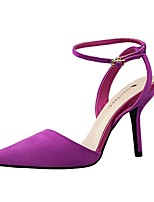 Women's Shoes Velvet Stiletto Heel Heels Heels Casual Black / Pink / Purple / Red / Gray