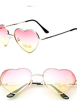 Fashion Women Retro 2 Tones Color Heart Shape Sunglasses