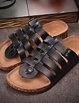Zapatos de Hombre-Zuecos-Casual-PVC-Negro / Marrón / Blanco