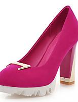 Zapatos de mujer-Tacón Robusto-Tacones-Tacones-Oficina y Trabajo / Vestido / Fiesta y Noche-Semicuero-Negro / Azul / Beige