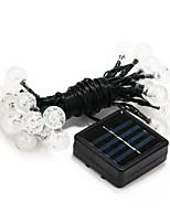 30-LED Solar Power Decoration White Light LED String Light