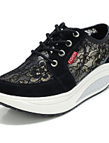 Women's Sneakers Summer Fall Light Soles Tulle Outdoor Casual Low Heel Gray Black