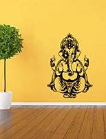 9488 Ganesh Elephant GOD OM Yoga Buddha Mandala Ganapati Living Room Vinyl Carving Wall Decal Sticker