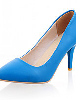 Women's Shoes Leatherette Stiletto Heel Heels Heels Wedding / Office & Career / Dress Black / Blue / Yellow