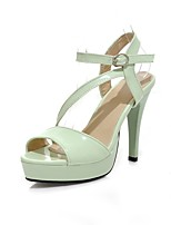 Women's Shoes Cone Heel Comfort / Round Toe Sandals Wedding / Outdoor / Office & Career / Dress Black / Green / White