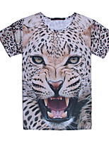 3D Male As Picture Cosplay  Predators Leopards T-shirt