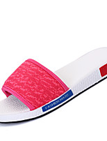 Women's Shoes Tulle Flat Heel Comfort / Slippers Slippers Casual Blue / Pink / Red / Gray
