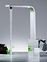 Kitchen faucet-Contemporary-Waterfall-Brass(Nickel Polished)
