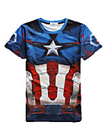 3D T-shirt Male As Picture Cosplay Captain America Cosplay Costumes T-shirt