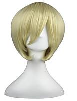 Black 14inch Butler-Alois Trancy Beige Synthetic Anime Cosplay Wig CS-001C