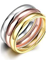 2016 3pcs Luxury  Noble Simple Style  3 Color Titanium Steel Fashion Ring Set