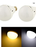 YouOKLight® 2PCS E27 5W 12*SMD5730 400LM White/ Warm White Light LED Energy saving High quality Globe Bulbs (AC 220V)