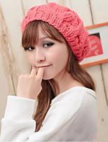 Great Berets  Pumpkin Knit Coarse Lines Hat