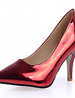Women's Shoes Leatherette Stiletto Heel Heels Heels Wedding / Office & Career / Party & Evening Red / Silver / Gold