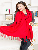 Pure Red Cashmere Fringed Scarves  Valentine's Day Gift