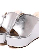 Chaussures Femme-Extérieure / Décontracté-Argent / Or-Talon Compensé-Compensées / Talons-Sandales / Chaussons-Similicuir