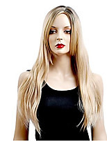 Women's Fashionable Brown Color Middle Length Straight Synthetic Wigs