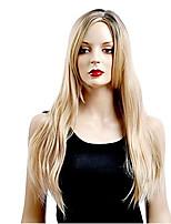 mode couleur brune moyenne longueur perruques synthétiques droites des femmes