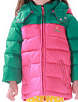 Girl's Down & Cotton Padded,Polyester Winter Green / Pink / Yellow