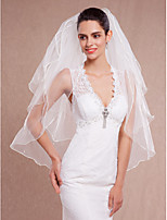 Wedding Veil Three-tier Fingertip Veils Pencil Edge