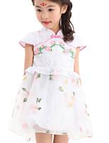 Girl's Dress,Cotton / Polyester Summer Pink / Purple
