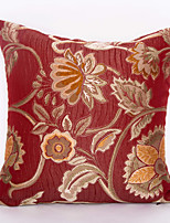Jacquard Chenille Cushion Cover -Red