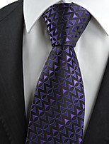 Purple Black Arrow Pattern Novelty Men's Tie Necktie Wedding Holiday Gift KT0062
