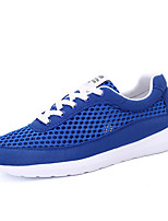Men's Shoes Athletic / Casual Tulle Fashion Sneakers Black / Blue / Royal Blue
