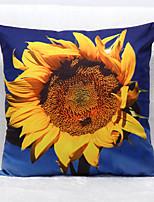 3D Sunflower Pattern Velvet Pillowcase Sofa Home Decor Cushion Cover (18*18inch)